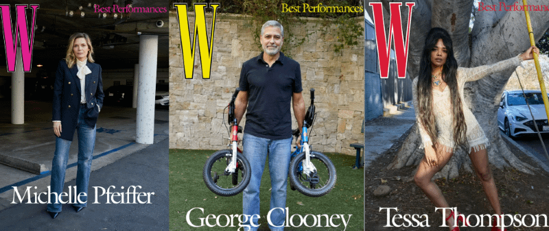 Pfeiffer, Clooney, Thompson, Yeun, Ahmed and More Cover W