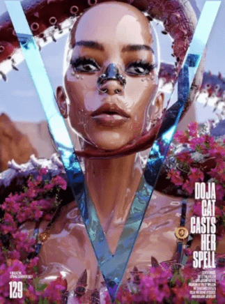 Doja Cat Gets Futuristic for V