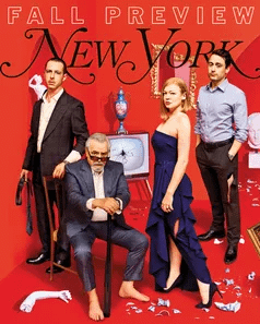 the cast of succession on new york magazine's fall tv preview issue
