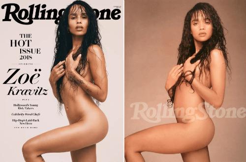 Zoe Kravitz Naked Rolling Stone Cover