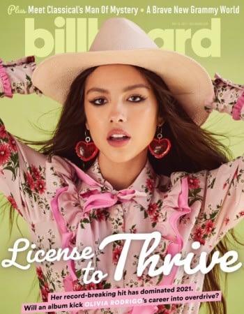 Olivia Rodrigo on the cover of Billboard Magazine
