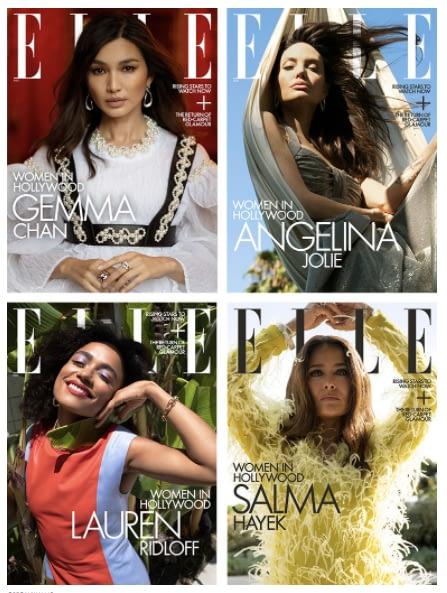 Angelina Jolie, Gemma Chan, Salma Hayek and Lauren Radloff