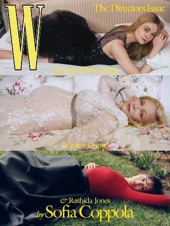 kirsten dunst rashida jones elle fanning sofia coppola W magazine