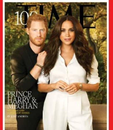 Meghan Markle and Prince Harry on the cover of Time