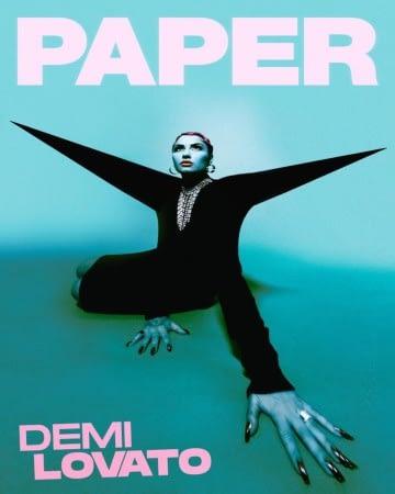 demi lovato paper cover