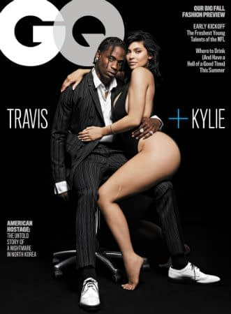 Kylie Jenner and Travis Scott GQ cover