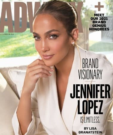 jennifer lopez on the adweek cover