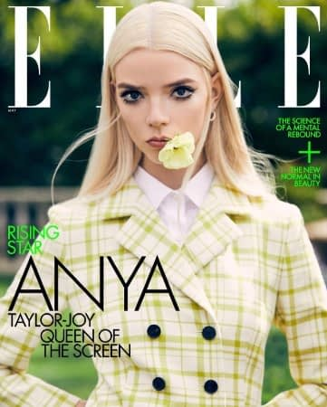Anya Taylor-Joy on the May cover of Elle