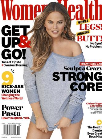 Chrissy Teigen Womens Health cover
