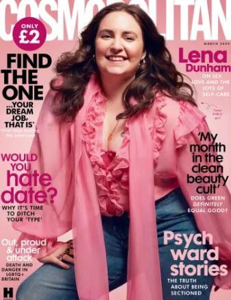 Lena Dunham cosmo uk