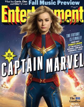 Brie Larson Captain Marvel EW
