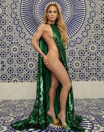 Jennifer Lopez nude InStyle