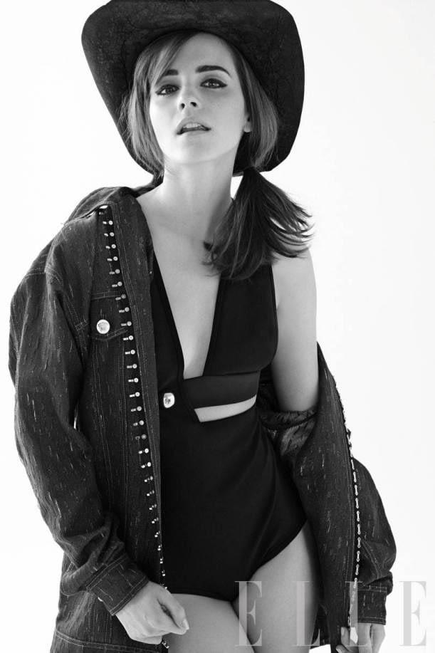 Emma Watson Covers Elle, Premieres Noah