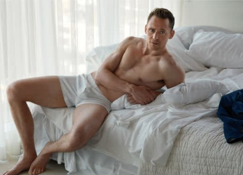 Tom Hiddleston Strips Down To His Underwear For W