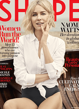 Naomi Watts Covers Shape